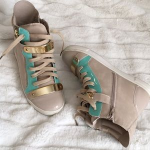Mint Taupe Ankle Sneakers